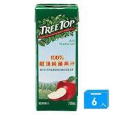 樹頂TreeTop100 蘋果汁200ml 6 入【愛買】