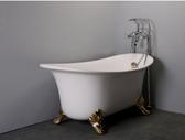 【台灣吉田】8686-666 古典造型貴妃獨立浴缸/空缸 按摩浴缸 壓克力材質 薄型款100cm
