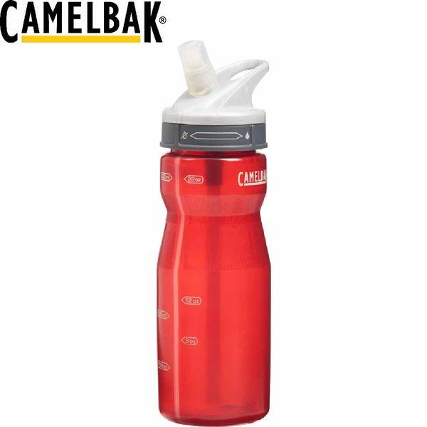【CamelBak 美國 650ml軟殼吸管水瓶 紅】 CB52087/登山/露營★滿額送