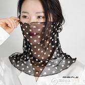 口罩 真絲防曬口罩面罩圍脖女套頭護頸椎脖臉面紗騎開車桑蠶絲圍巾 居優佳品