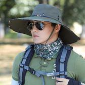 男遮阳帽钓鱼帽子防晒帽户外太阳帽