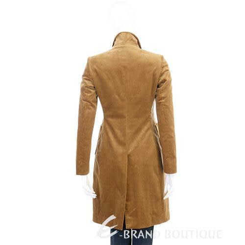 ANTONIO FUSCO 棕色絨質長版大衣 0940345-B3