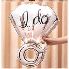 一定要幸福哦~~銀色I do大鑽戒鋁箔氣球70*50公分,婚禮裝飾布置,求婚道具, 婚紗照錫箔球 生日