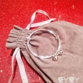 雙十一狂歡手鐲s925純銀電鍍轉運珠鈴鐺推拉手鐲女韓版小清新百搭氣質可調節手環