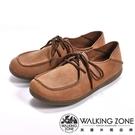 【WALKING ZONE】可踩式雙穿休閒女鞋-棕(另有紅、藍)