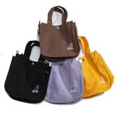 KANGOL 多色 帆布 英國 側背 內夾層 野餐袋 便當袋 手提袋 (布魯克林) 6955301-