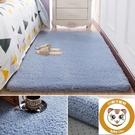 毛絨床邊地毯臥室房間地毯家用客廳毛毯【小獅子】