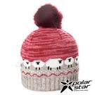 【PolarStar】女保暖毛球帽-綿羊『紅』P20603 冬季.禦寒.保暖.毛球帽.素色帽.針織帽.毛帽.毛線帽