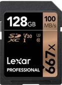 【128G 】Lexar 雷克沙 Professional SDXC UHS-I 128GB 667X 記憶卡 V30 U3 100MB/s