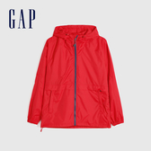 Gap 男裝 活力休閒連帽外套 548723-正紅色