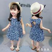 女童韓版洋裝新款女寶寶裙子中大尺碼女1一3歲潮韓版洋氣公主 js5571『黑色妹妹』