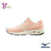 Mizuno慢跑鞋 女鞋 WAVE SKY WAVEKNIT 3 運動鞋 跑步鞋 路跑 馬拉松 美津濃 I9256#粉橘◆OSOME奧森鞋業