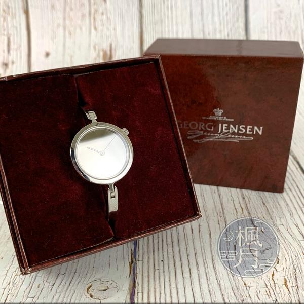 BRAND楓月 GEORG JENSEN 銀色細錶 鏡面 手環錶 手錶 配飾 女士