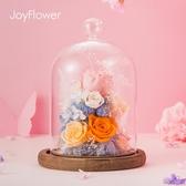 永生花禮盒玻璃罩520情人節禮物情人節送女友生日干花永生玫瑰花 居享優品