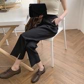 【降價兩天】煙管褲 大尺碼褲子女 闊腿直筒褲 休閒九分西裝褲