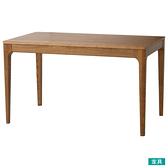 ◎實木餐桌 VIK130 柚木色 梣木 NITORI宜得利家居