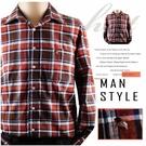 【大盤大】(S82868) 男 100%純棉襯衫 口袋上衣 法蘭絨內刷毛格子襯衫 格紋 英倫【2XL號斷貨】