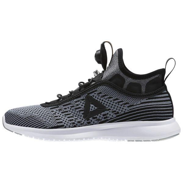 REEBOK PUMP PLUS ULTRAKNIT 女鞋 慢跑 輕量 編織 充氣 黑灰【運動世界】BS8569