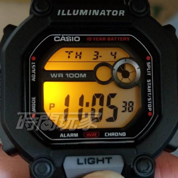 CASIO卡西歐 W-737H-2A 復古方型10年電力 W-737H-2AVDF 橡膠錶帶 藍色 男錶 防水手錶