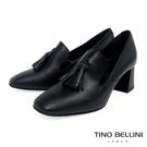 VI850401 義大利進口 樂福鞋綴上流蘇的經典樣貌 小方頭及梯型鞋跟 營造歐風貴族般的優雅
