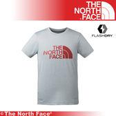 【The North Face 美國 男 排汗LOGO短T/L《淺灰》】3CJM/吸濕排汗/透氣/短T/上衣/排汗衣/基本款★滿額送
