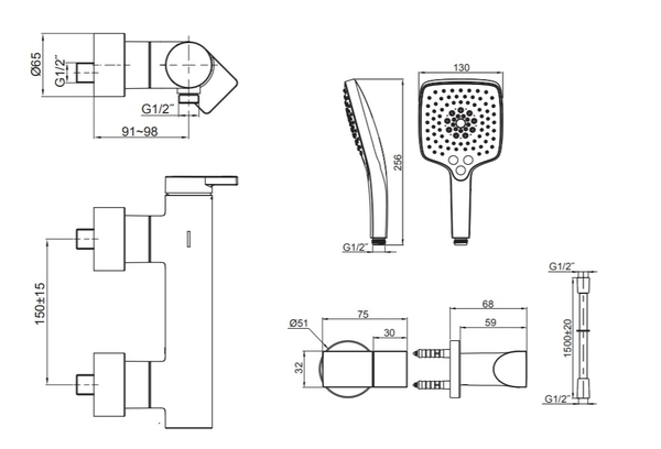 【麗室衛浴】美國 KOHLER活動促銷 Composed 淋浴龍頭組 K-73091T-4-TT