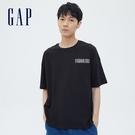 Gap男裝 Gap x Snoopy 史努比系列純棉厚磅短袖T恤 701565-黑色