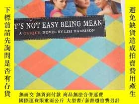 二手書博民逛書店IT'S罕見NOT EASY BEING MEANY19285