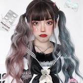整頂假髮(長髮)-拼色捲髮大波浪日系女假髮73xw24【時尚巴黎】