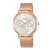日本ALBA 雅柏  新上市甜美風女錶 VD75-X118K(AP6608X1) 米蘭帶玫瑰金