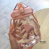 夏天水杯吸管杯可愛大容量塑料杯耐摔便攜高顏值簡約杯子【聚物優品】