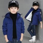 童裝男童外套秋冬款洋氣男孩冬季棉服中大兒童加棉加絨潮快速出貨
