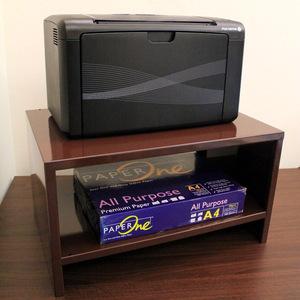 【頂堅】(鐵板製)桌上型置物架/印表機架/傳真機架(寬45公分)-二色深咖啡色