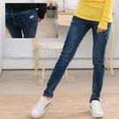 彈性口袋造型中腰顯瘦窄管件仔褲 onlyyou 中大尺碼 【A7515】