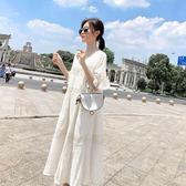 米蘭 孕婦夏裝洋裝仙女超仙2019新款韓版時尚寬鬆休閒短袖過膝長裙潮