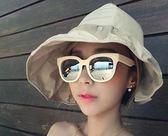雙12鉅惠 帽子女士遮陽帽夏天韓版潮防紫外線大沿沙灘防曬太陽帽可折疊涼帽