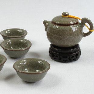 (蟹甲青六杯)雙漁瓷莊 龍泉青瓷整套功夫茶具禮盒