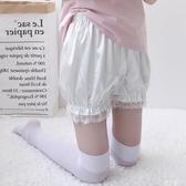 安全褲打底安全褲女防走光夏季薄款日系保險蕾絲jk可愛外穿南瓜褲【兩條裝】