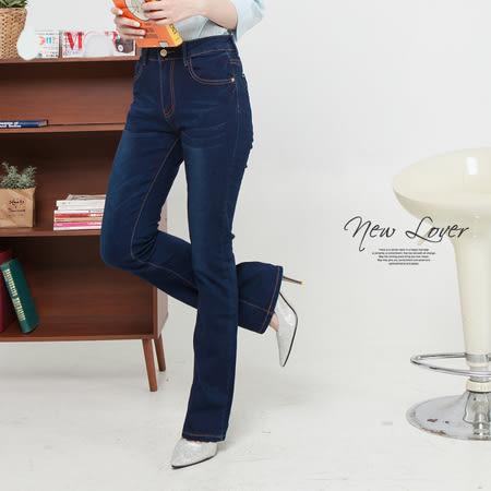 喇叭褲-中大尺碼NEWLOVER牛仔時尚【166-6886】設計優雅時尚修身喇叭褲-S-XL