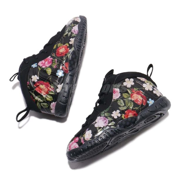 premium selection 55c52 38248 ... Nike Little Posite One Prm TD Floral 黑彩色花卉圖騰太空鞋童鞋小童鞋