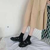 一腳蹬黑色小皮鞋女軟皮2021秋季款韓版百搭網紅英倫風復古學院風 米娜小鋪