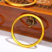 古法傳承越南沙金手鐲女實心999黃金色久不掉色24k泰國金首飾 朵拉朵衣櫥