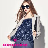 【SHOWCASE】個性星星印花雪紡平口上衣(藍)