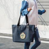 大容量包包  牛津布單肩包女大包大容量防水帆布包女托特包簡約手提包 『伊莎公主』