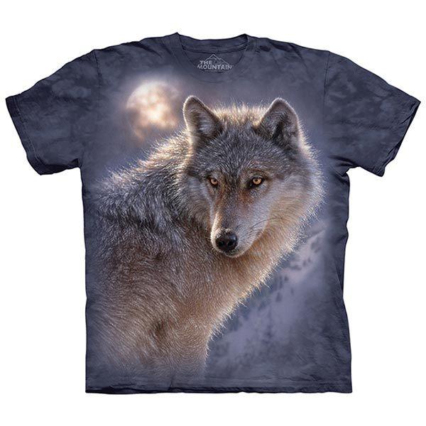 【摩達客】(預購)美國進口The Mountain 冒險狼 純棉環保短袖T恤(10415045026)