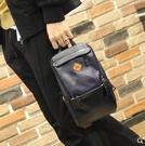新款時尚撞色皮質胸包單肩斜背包休閒百搭韓版學生小背包潮流男包  科炫數位