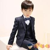 5件套 兒童西裝套裝男童花童禮服鋼琴演出服中大童西服外套【淘嘟嘟】