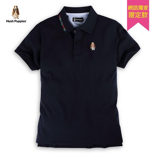 Hush Puppies POLO衫 男裝彩色刺繡領片棉質短袖POLO衫