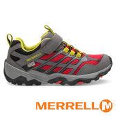 【MERRELL 美國 】MOAB FST LOW A/C WATERPROOF 童 防水 多功能健行鞋『灰/紅』57966