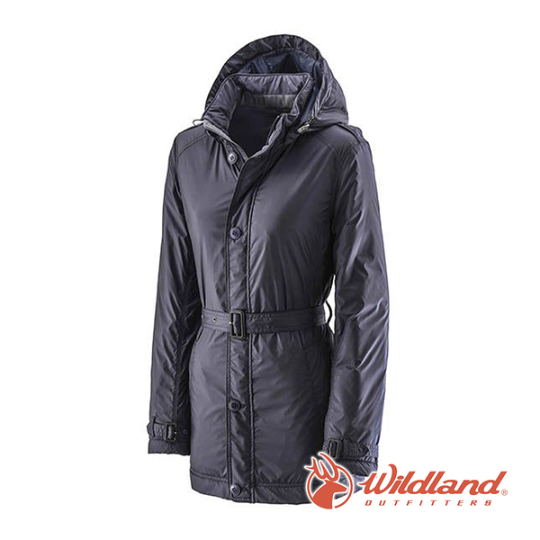 [Wildland] 荒野 (女) 輕量杜邦棉防風防潑外套 深藍 (0A22903-72)